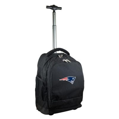 NFL New England Patriots 19 in. Black Wheeled Premium Backpack