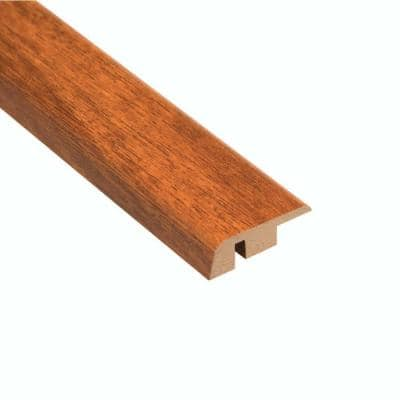 High Gloss Jatoba 12.7 mm Thick x 1-1/4 in. Wide x 94 in. Length Laminate Carpet Reducer Molding