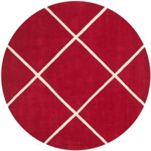 Chatham Red/Ivory 7 ft. x 7 ft. Round Area Rug