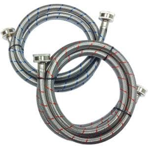 3/4 in. FIP x 3/4 in. FIP x 60 in. Stainless Steel Washing Machine Hose Set