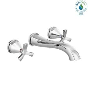 Stryke 2-Handle Wall Mount Bathroom Faucet Trim Kit in Chrome (Valve Not Included)