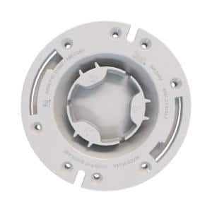 Fast Set 3 in. Outside Fit or 4 in. Inside Fit PVC Hub Toilet Flange with Test Cap and Plastic Ring