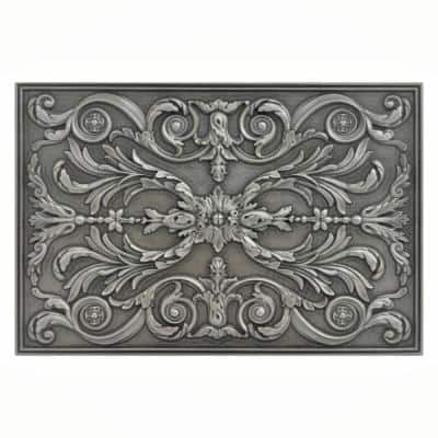 Viola Pewter Nickel Matt Finish 12 in. x 18 in. Hand Made Metal Backsplash Decorative Mural Plaque Tile 1 Piece/Case