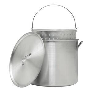 42 Qt. Aluminum Pot with Strainer Basket
