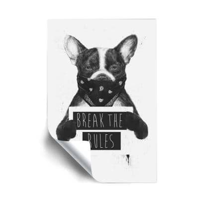 """""""Rebel Dog"""" Animals Removable Wall Mural"""