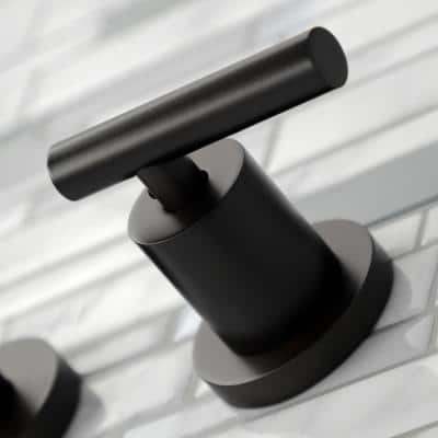 Manhattan 2-Handle Wall Mount Bathroom Faucet in Oil Rubbed Bronze