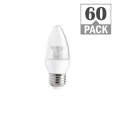 40-Watt Equivalent B11 Dimmable LED Light Bulb Soft White (60-Pack)