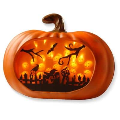 14 in. 3D Orange LED Pumpkin