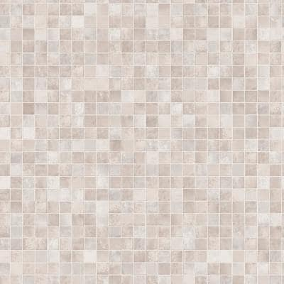 Mosaic Tiles Neutral Vinyl Peelable Roll (Covers 56 sq. ft.)