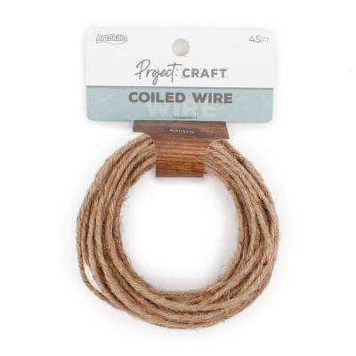 Project Craft Grapevine Wire Twine for Wreaths & Floral Projects, Brown (45 ft.)