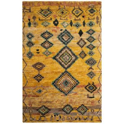 Tangier Gold 5 ft. x 8 ft. Geometric Area Rug