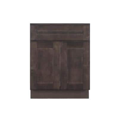 Lancaster Shaker Assembled 36 in. W x 21 in. D x 33 in. H Bath Vanity Cabinet with 2 Doors in Vintage Charcoal
