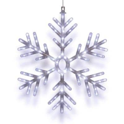 24 in. Tall Hanging Snowflake with LED Lights