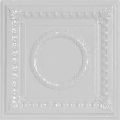 Victory 2 ft. x 2 ft. Nail Up Tin Ceiling Tiles Surface Mount White (48 sq. ft./case)