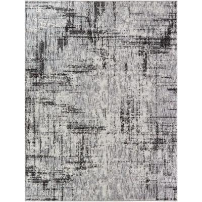 Leon Black 8 ft. x 10 ft. Abstract Area Rug