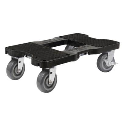 1800 lbs. Capacity Super-Duty Professional E-Track Dolly in Black