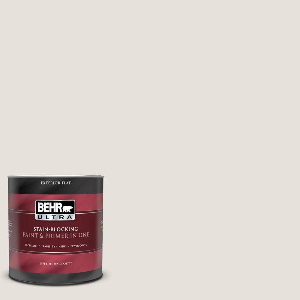 Behr Ultra 1 Qt Home Decorators Collection Hdc Nt 21 Weathered White Flat Exterior Paint And Primer 485004 The Home Depot