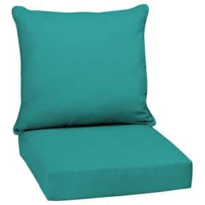 24 x 24 Surf Canvas Texture 2-Piece Deep Seating Outdoor Lounge Chair Cushion