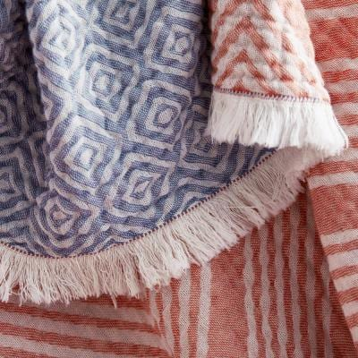 Livy Multicolored Cotton Throw Blanket