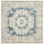 Evoke Ivory/Blue 7 ft. x 7 ft. Square Area Rug