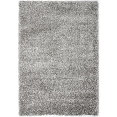 California Shag Silver 5 ft. x 8 ft. Area Rug