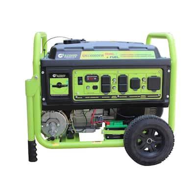 13000/10500-Watt Dual Fuel Gas/Propane Powered Portable Generator w/479cc/18HP LCT Professional Engine, Lithium Battery