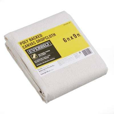 6 Ft x 9 Ft Poly Backed Canvas Drop Cloth