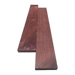 1 in. x 4 in. x 8 ft. Purpleheart S4S Board (2-Pack)