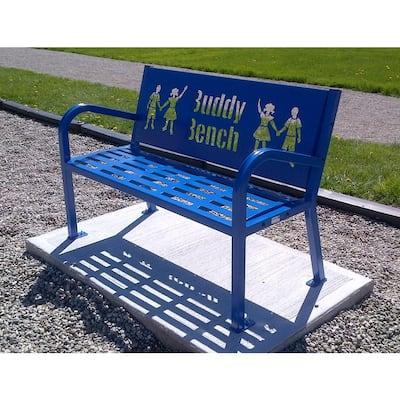 4 ft. Blue Buddy Bench