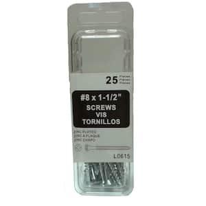 1.5 in. Screw Zinc (25-per Pack)