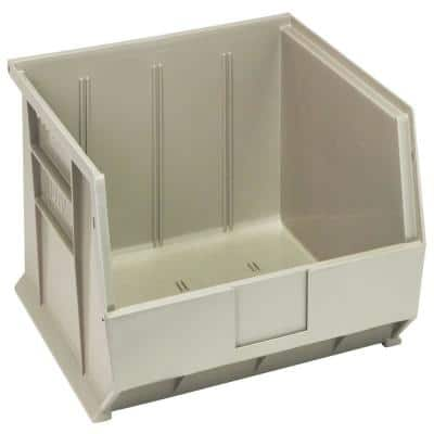 Ultra-Series 7.5 Gal. Hang Storage Tote and Stack in Stone (6-Pack)