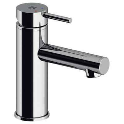5 in Modern Single Hole Single-Handle Bathroom Faucet including Pop-up drain in Chrome
