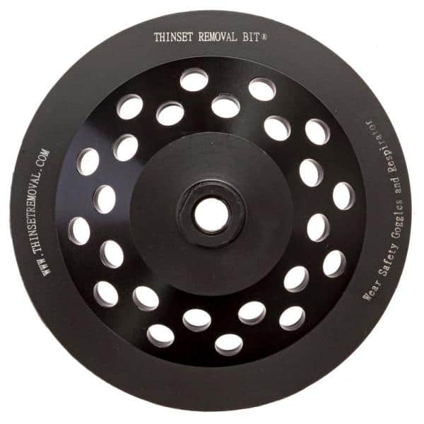 Thinset Removal Bit 7 In Double Row Diamond Grinding Cup Wheel 7drdg58 The Home Depot