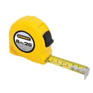8m/26 ft. x 1 in. Tape Measure (Metric/English Scale)
