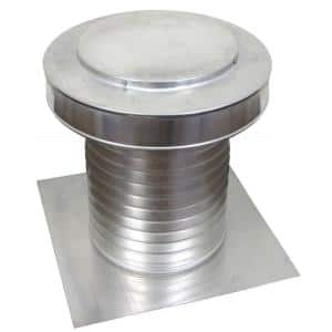10 in. Dia Keepa Vent an Aluminum Roof Vent for Flat Roofs