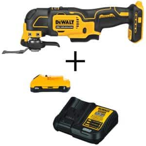 ATOMIC 20-Volt MAX Cordless Brushless Oscillating Multi-Tool with (1) 20-Volt Battery 3.0Ah & Charger