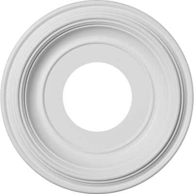 """1-1/8 in. P X 10 in. OD X 3-1/2 in. ID Traditional Thermoformed PVC Ceiling Medallion (Fits Canopies up to 5 1/2"""")"""