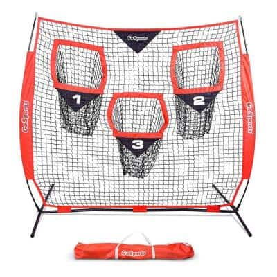 Quarterback 6 ft. x 6 ft. Accuracy Football Training Net with 3 Target Pockets
