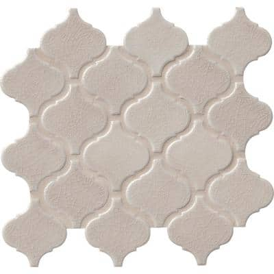 Fog Arabesque 9.84 in. x 10.63 in. x 6 mm Glossy Ceramic Mosaic Tile (10.95 sq. ft. / case)
