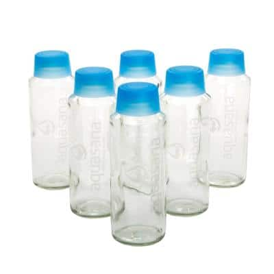 18 oz. Glass Water Bottles (6-Pack)