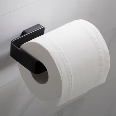 Stelios Bathroom Toilet Paper Holder in Matte Black