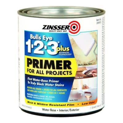 Bulls Eye 1-2-3 Plus 1 qt. White Water-Based Interior/Exterior Primer and Sealer (6-Pack)