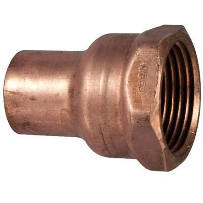 3/4 in. x 1/2 in. Copper Pressure Cup x Female Adapter Fitting