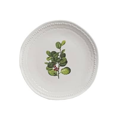 Mistletoe White Plate (Set of 4)