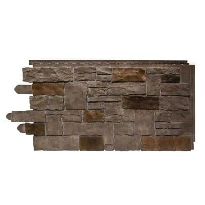 20.25 in. W x 45 in. L Artisan Cut Polymer Stone Panel in Saddle