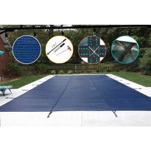 20 ft. x 44 ft. Rectangle Blue Mesh In-Ground Safety Pool Cover