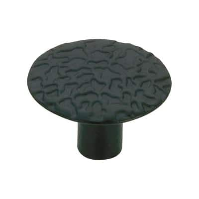 1-1/16 in. (27 mm) Black Traditional Metal Cabinet Knob