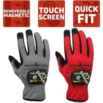 Extra-Large High Dexterity Gloves with 1-Removable Magnet (2-Pair)