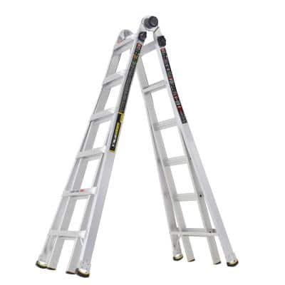 MPX 26 ft. Reach Aluminum Multi-Position Ladder with 375 lbs. Load Capacity Type IAA Duty Rating