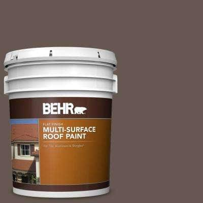5 gal. #N200-7 Underground Flat Multi-Surface Exterior Roof Paint